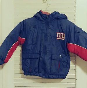 NFL Giants Winter Coat Boys Size 5-6